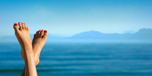 pied sur fond de mer